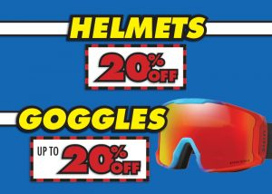 20% OFF Helmets & Up to 20% OFF Goggles