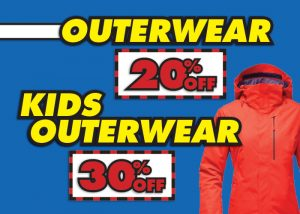 20% OFF Outerwear and 30% OFF Kids Outerwear!